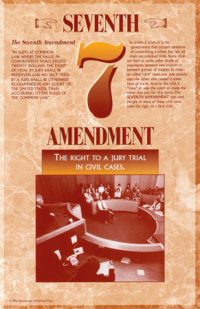 a case study of amendment seven scenario in the us Seventh amendment - civil trials amendment text | annotations in suits at common law, where the value in controversy shall exceed twenty dollars, the right of trial by jury shall be.