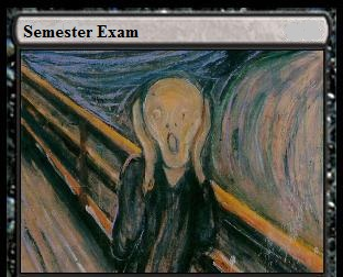 Semester Exam Scream